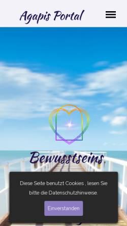 Vorschau der mobilen Webseite www.agapis-portal.ch, Agapis-Portal