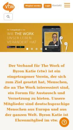 Vorschau der mobilen Webseite www.vtw-the-work.org, Verband für The Work of Byron Katie e. V. (vtw)