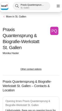 Vorschau der mobilen Webseite quantensprung-coach.com, Quantensprung-Coach
