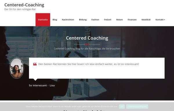 Vorschau von www.centered-coaching.de, Centered Coaching