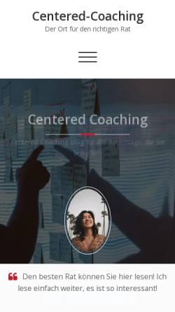 Vorschau der mobilen Webseite www.centered-coaching.de, Centered Coaching