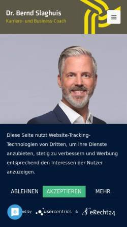 Vorschau der mobilen Webseite www.bernd-slaghuis.de, Dr. Bernd Slaghuis, Consulting Coaching