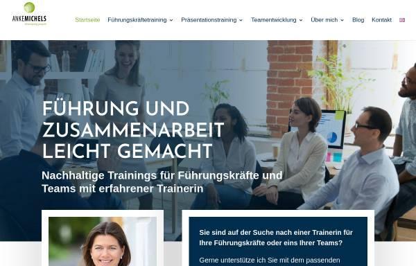 Vorschau von www.anke-michels.de, Anke Michels Consulting, Training, Coaching