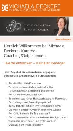 Vorschau der mobilen Webseite www.michaela-deckert.de, Michaela Deckert