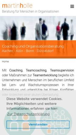 Vorschau der mobilen Webseite martin-holle.de, Martin Holle – Beratung für Menschen in Organisationen