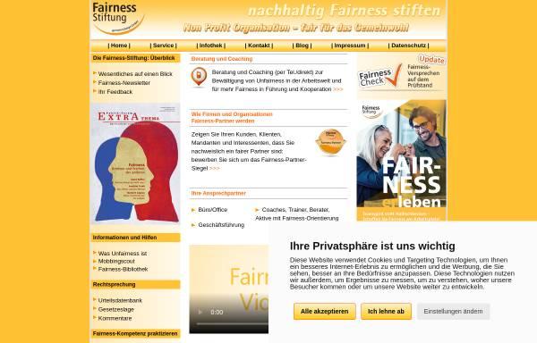 Vorschau von www.fairness-stiftung.de, Fairness-Stiftung