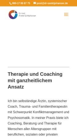 Vorschau der mobilen Webseite www.dr-sanktjohanser.de, Dr. med. Amelie Sanktjohanser