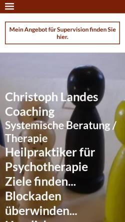 Vorschau der mobilen Webseite www.die-landes-seite.de, Christoph Landes - Heilpraktiker für Psychotherapie