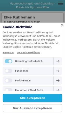 Vorschau der mobilen Webseite www.coaching-koeln-ek.de, Elke Kuhlemann Heilpraktikerin