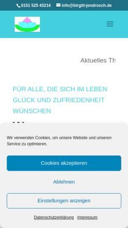 Vorschau der mobilen Webseite www.birgitt-jendrosch.de, Studio für aktive Lebensgestaltung