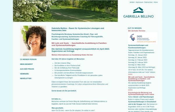 Vorschau von www.gabriella-bellino.com, Gabriella Bellino - Zentrum für Systemische Lösungen und Selbstenfaltung