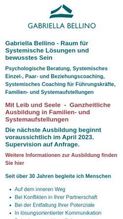 Vorschau der mobilen Webseite www.gabriella-bellino.com, Gabriella Bellino - Zentrum für Systemische Lösungen und Selbstenfaltung