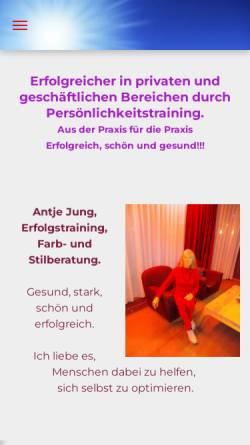 Vorschau der mobilen Webseite www.institut-antje.de, Antje Jung