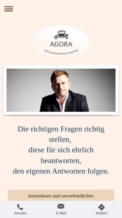 Vorschau der mobilen Webseite www.agoracoaching.de, Agora Coaching - Dr. Lutz E. Seelig