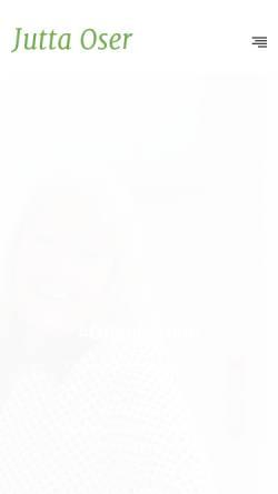 Vorschau der mobilen Webseite www.jutta-oser.de, Jutta Oser