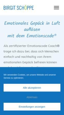 Vorschau der mobilen Webseite www.coaching-studio-schoeppe.de, Birgit Schöppe - Systemischer Coach für berufliche Neuorientierung