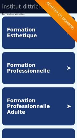 Vorschau der mobilen Webseite www.institut-dittrich.de, Institut Dittrich