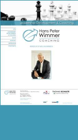 Vorschau der mobilen Webseite www.hanspeter-wimmer.de, Hans-Peter Wimmer