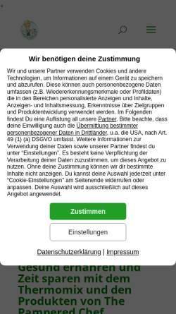 Vorschau der mobilen Webseite kinderleichtkochen.com, Backwinkel.net
