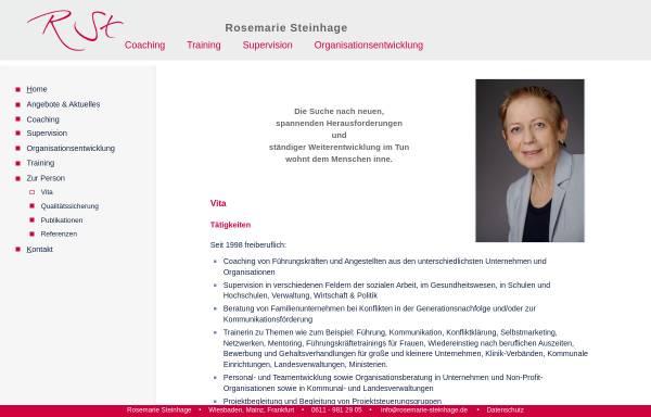 Vorschau von www.rosemarie-steinhage.de, Rosemarie Steinhage