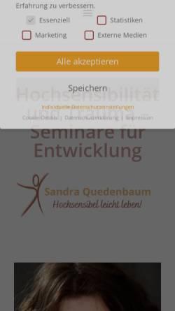 Vorschau der mobilen Webseite www.loesungs-coaching.de, Sandra Quedenbaum Coaching