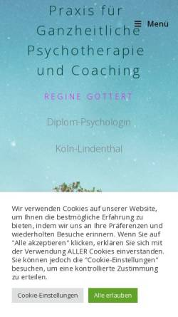 Vorschau der mobilen Webseite www.regine-goettert.de, Dipl. Psych. Regine Göttert