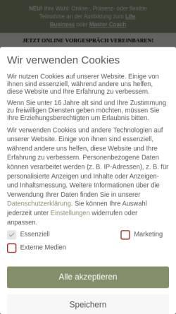 Vorschau der mobilen Webseite www.dr-bock-coaching-akademie.de, Dr. Bock Coaching Akademie