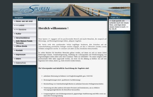 Vorschau von www.neue-spuren.de, NSL - Neue Spuren Legen