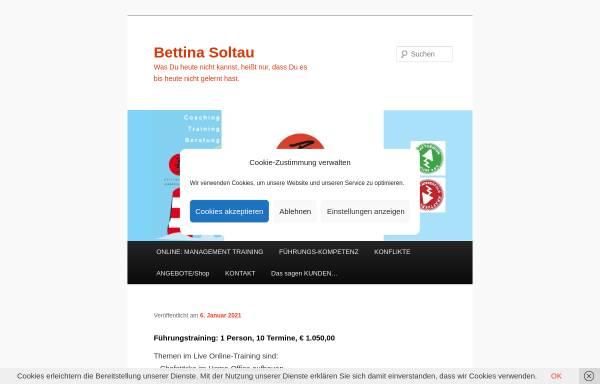 Vorschau von www.bettina-soltau.de, Bettina Soltau - Kommunikationsbüro
