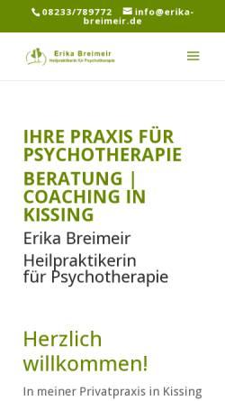 Vorschau der mobilen Webseite erika-breimeir.de, Erika Breimeir