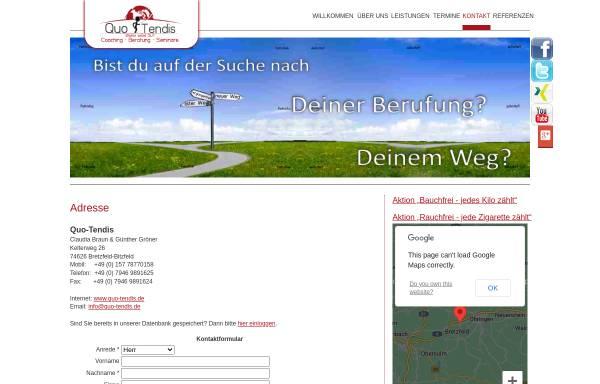 Vorschau von guenther-groener.info, Quo-Tendis