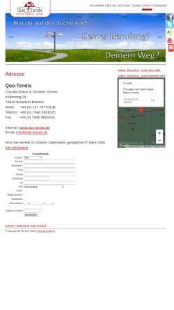 Vorschau der mobilen Webseite guenther-groener.info, Quo-Tendis