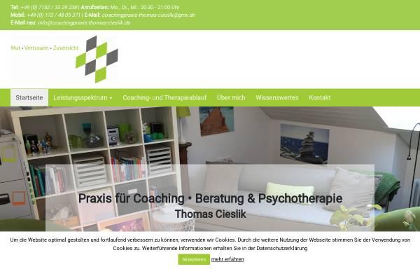 Vorschau von www.coachingpraxis-thomas-cieslik.de, Thomas Cieslik