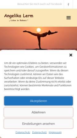 Vorschau der mobilen Webseite www.psychotherapie-lerm.de, Angelika Lerm