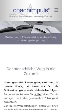 Vorschau der mobilen Webseite www.coachimpuls.de, Coachimpuls Life Coaching