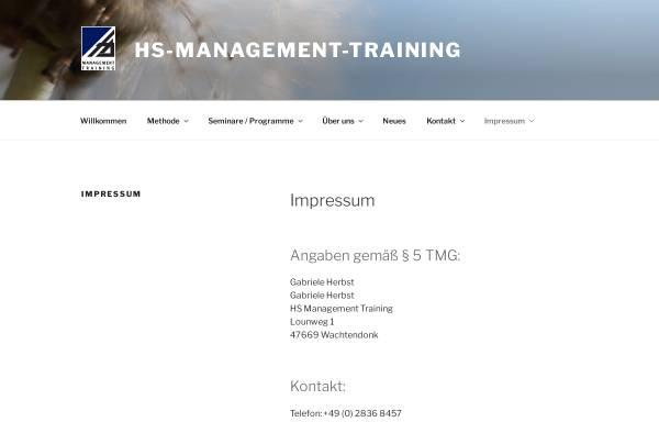 Vorschau von www.hs-management-training.de, HS Management Training