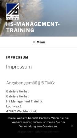 Vorschau der mobilen Webseite www.hs-management-training.de, HS Management Training