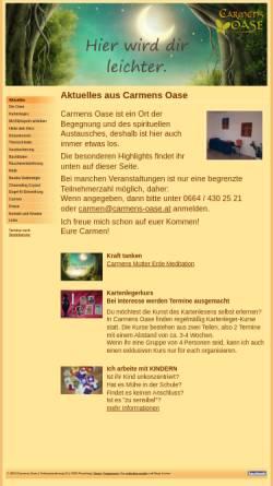Vorschau der mobilen Webseite www.carmens-oase.at, Carmens Oase