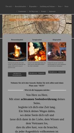 Vorschau der mobilen Webseite achtsame-seelenberührung.de, Sandra Fels