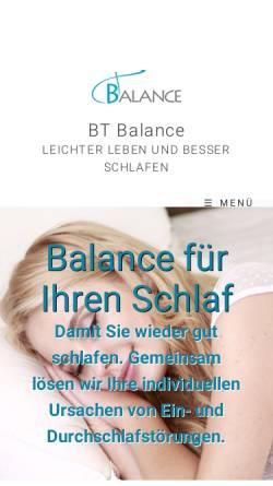 Vorschau der mobilen Webseite www.bt-balance.com, BT Balance