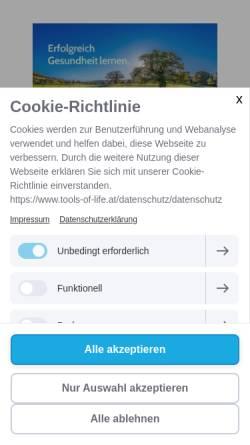 Vorschau der mobilen Webseite www.tools-of-life.at, Daniela Keller - Tools of Life