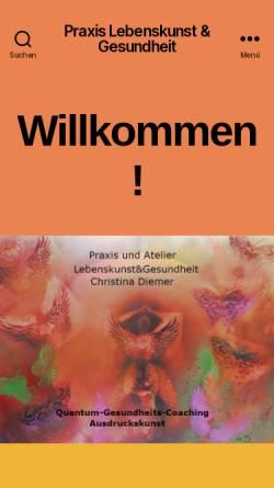 Vorschau der mobilen Webseite akaleku.de, Akademie Lebenskunst und Gesundheit