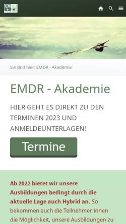 Vorschau der mobilen Webseite emdr-akademie.de, Private Akademie für Psychologische Bildung