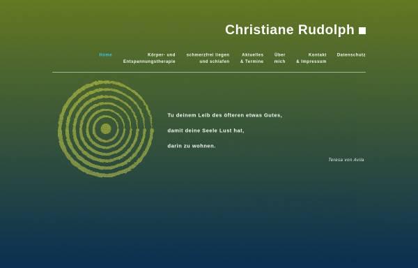 Vorschau von www.christiane-rudolph.de, Christiane Rudolph - Reiki