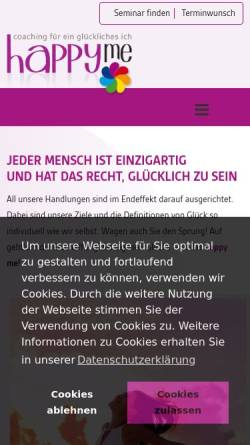 Vorschau der mobilen Webseite happyme.de, Happyme