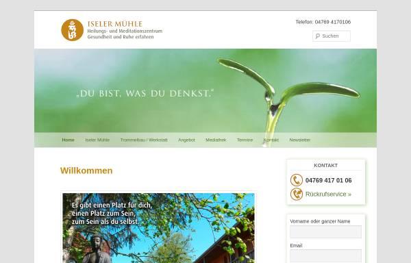 Vorschau von www.iseler-muehle.de, Heilungs- und Meditationszentrum Iseler Mühle