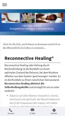 Vorschau der mobilen Webseite reconnecting-home.de, Hedwig Lara'Ana Weiß