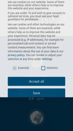 Vorschau der mobilen Webseite quantica.info, Quantica GmbH