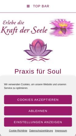 Vorschau der mobilen Webseite kraftderseele.de, Praxis für Soul Healing und Transformation UG