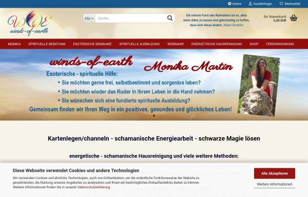 Vorschau von www.winds-of-earth.de, Monika Martin - winds-of-earth